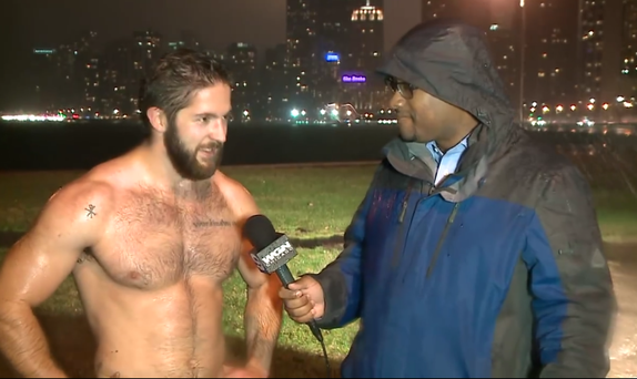 Ethan Renoe has gained quite a large following of female fans since this weather report aired Credit:Facebook/WGNTV
