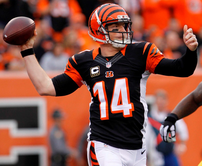 Cincinnati Bengals quarterback Andy Dalton suffered a broken thumb