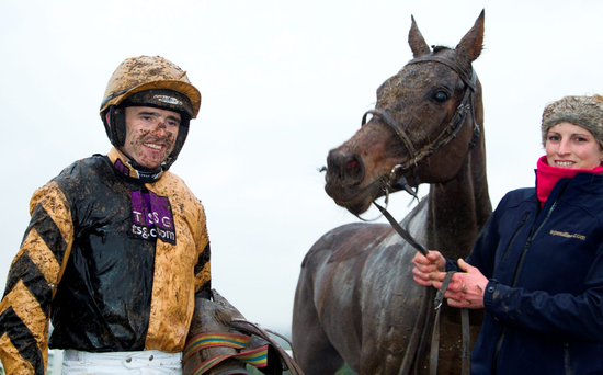 Ruby Walsh and Felix Yonger in the winner's enclosure after their success in yesterday's Kerry Group Hilly Way Chase at Navan