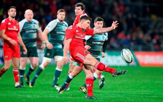 Ian Keatley had a bad day at the office for Munster on Saturday