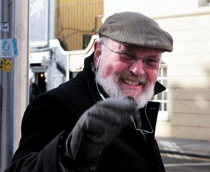 Senator David Norris outside Leinster House earlier this year. This week he told a radio interviewer he thought that the unemployed should not be allowed to buy alcohol. Photo: Tom Burke