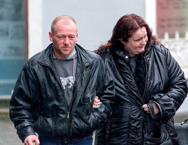 Shane and Carmel Skeffington at Sligo Coroner's Court for the inquest into the death of their sons Shane Michael and Brandon