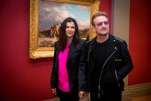 Bono and Ali Hewson. Picture: Arthur Carron