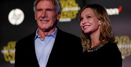 Actors Harrison Ford and Calista Flockhart attend the World Premiere of