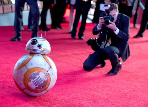 Film character BB-8 arrives at the world premiere of