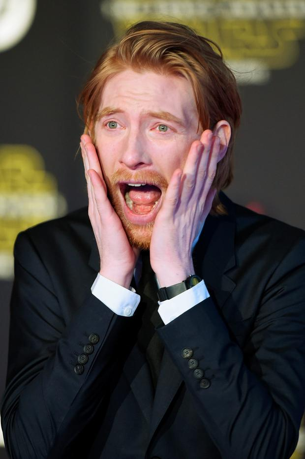 Actor Domhnall Gleeson attends Premiere of Walt Disney Pictures and Lucasfilm's