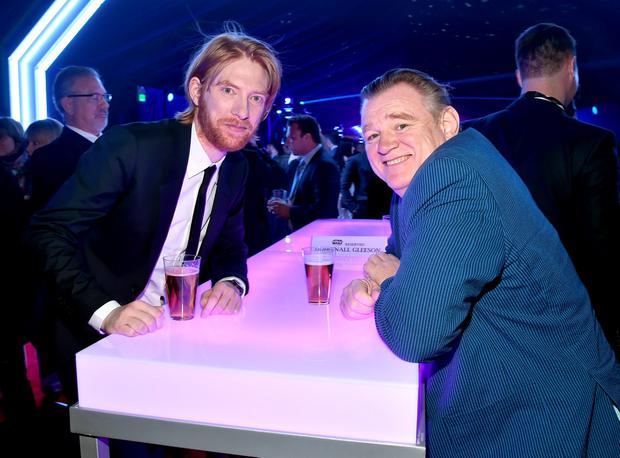 HOLLYWOOD, CA - DECEMBER 14: Actors Domhnall Gleeson (L) and Brendan Gleeson attend the after party for the World Premiere of Star Wars: The Force Awakens on Hollywood Blvd on December 14, 2015 in Hollywood, California. (Photo by Alberto E. Rodriguez/Getty Images for Disney)