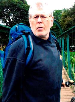 Image issued by Greater Manchester Police of a man they wish to speak to after a 35-year-old woman walking her dog was attacked and thrown down a flight of steps in Chorlton, Manchester. Photo: Greater Manchester Police/PA Wire