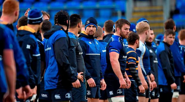Leinster's Rob Kearney with his team-mates during squad training. Leinster Rugby Squad Training. Rosemount, UCD, Belfield, Dublin. Picture credit: Matt Browne / SPORTSFILE