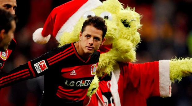 Bayer Leverkusen's Javier Hernandez has been in terrific scoring form