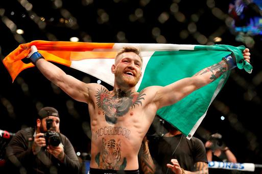 Conor McGregor after his win over Jose Aldo. The GAA could learn from the rise of the UFC through the sheer force of its marketing power