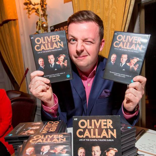 Oliver Callan at the launch of his new DVD