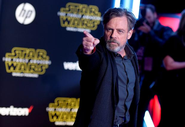 Mark Hamill arrives at the world premiere of 'Star Wars: The Force Awakens' at the TCL Chinese Theatre in Los Angeles