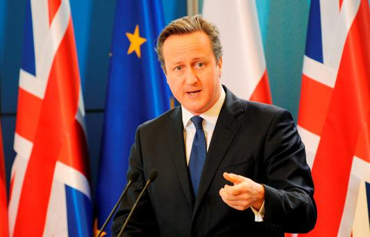 British Prime Minister David Cameron. Photo: AP