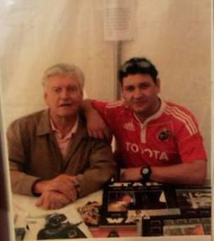 James Twomey with original Darth Vader David Prowse