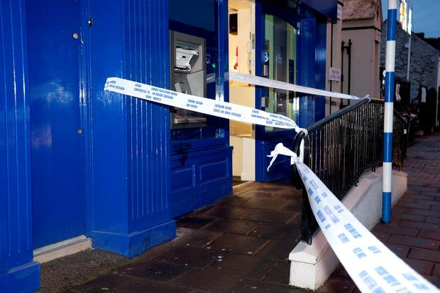 The scene of a suspected attempted robbery at the Ulster Bank ATM in Celbridge Co.Kildare