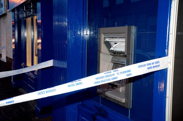 The scene of a suspected attempted robbery at the Ulster Bank ATM in Celbridge Co.Kildare.