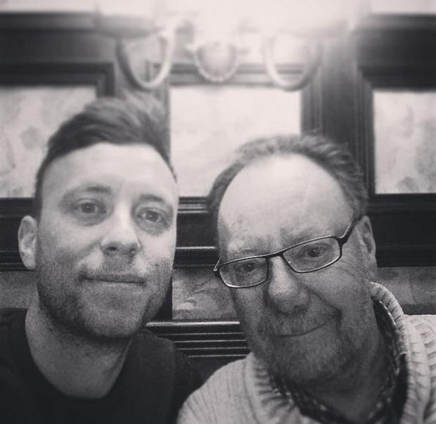 Don (73) pictured with his son Andy