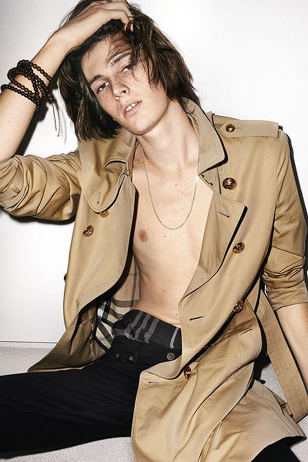 Dylan Brosnan for Burberry's Spring/Summer campaign, shot by Mario Testino