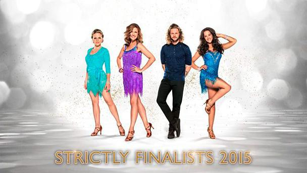 Strictly Come Dancing finalists 2015