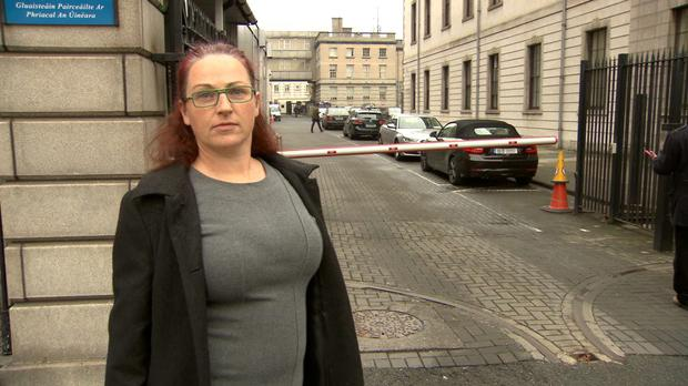 Evicted at Christmas _ On TV3 _ Ciara O'Reilly outside Circuit Court