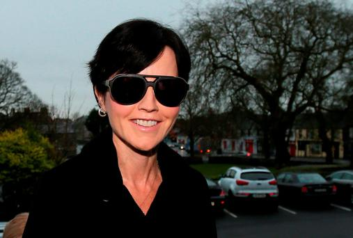 Cranberries singer Dolores O'Riordan arrives at Ennis District Court where she has been charged over an incident on a flight from New York