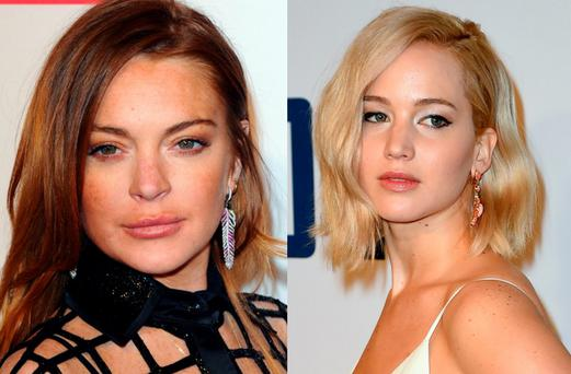 Lindsay Lohan and Jennifer Lawrence