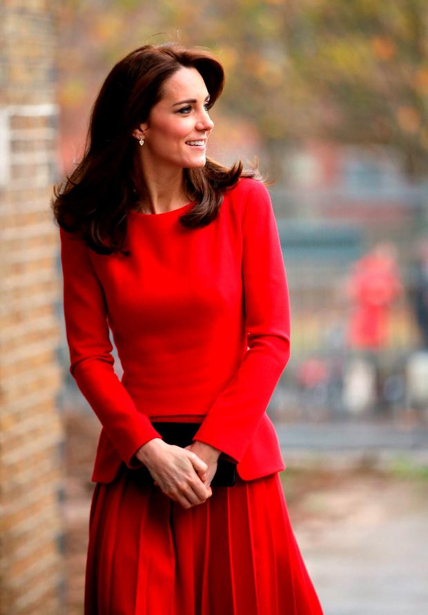 The Duchess of Cambridge arrives at the Anna Freud Centre Family School Christmas party in north London. Picture: Chris Jackson/PA Wire