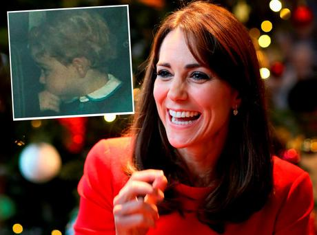 Kate Middleton and Prince George (inset)