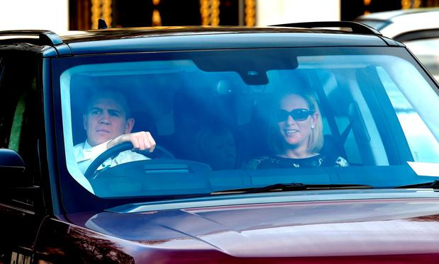 Mike Tindall and Zara Phillips arrive for the annual Christmas lunch hosted by The Queen at Buckingham Palace on December 16, 2015 in London, England. (Photo by Stuart C. Wilson/Getty Images)