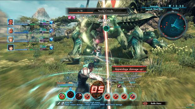 Xenoblade Chronicles X: complex and poorly explained battle systems