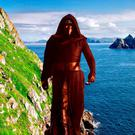 Star Wars filming locations: Kylo Ren with Skellig Michael (composite image). Photo: Deposit