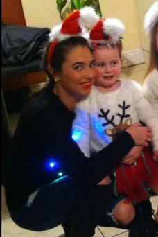 Lyndsey and Kali (2) have been living in a hotel room in the city centre for the past 10 months