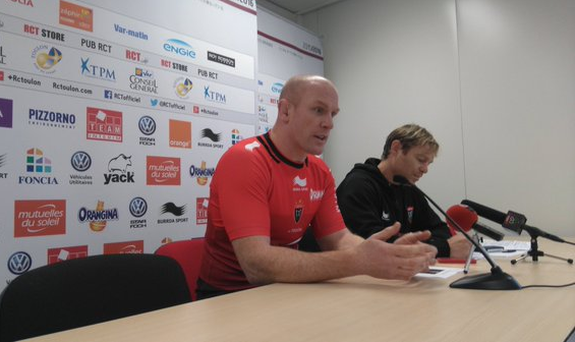 Paul O'Connell is unveiled by Toulon
