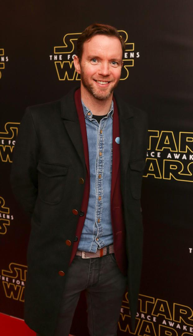 Dermot Whelan pictured at the special event screening of Star Wars The Force Awakens at the Savoy Cinema Dublin. Photo Anthony Woods