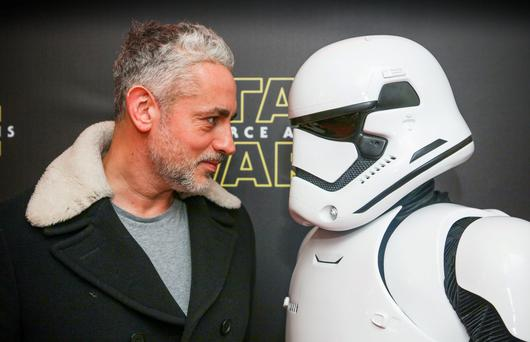 Baz Ashmawy pictured at the special event screening of Star Wars The Force Awakens at the Savoy Cinema Dublin. Photo Anthony Woods