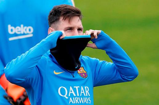 Barcelona's soccer player Lionel Messi