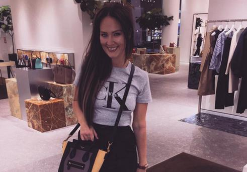 Conor McGregor's girlfriend Dee Devlin posted this photo of her shopping on Instagram.