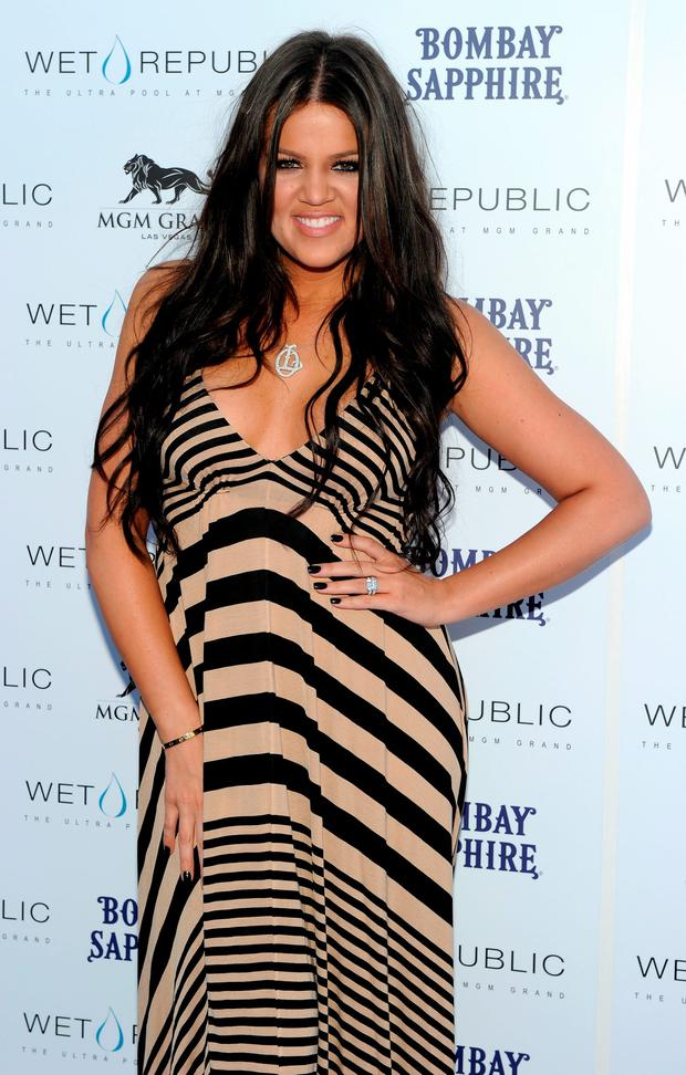 April 2010: Television personality Khloe Kardashian arrives at the Wet Republic pool at the MGM Grand Hotel/Casino to celebrate her sister Kourtney Kardashian's birthday