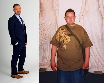 Brendan has lost more than nine stone in ten years