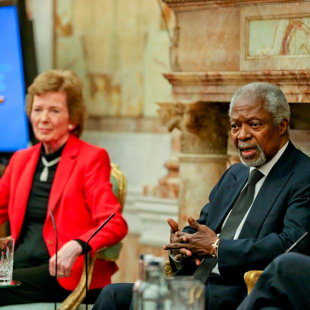 Kofi Annan, Former United Nations Secretary-General, Mary Robinson, United Nations Special Envoy of the Secretary-General on Climate Change. Photo: Maxwells