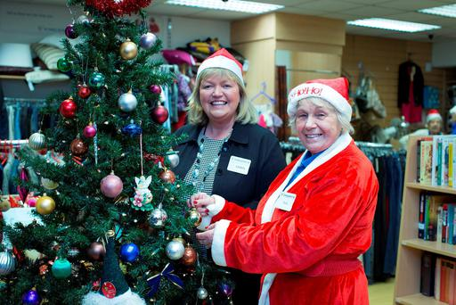 Manager Carol Ryan and Ruth Daly at the St Vincent de Paul shop in Coolock. Photo: Arthur Carron