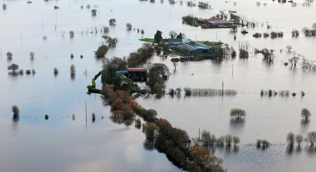 'Water levels are also continuing to drop in Co Offaly and Co Westmeath, where council officials are still closely monitoring the situation and remain on standby'. Photo: PA Wire