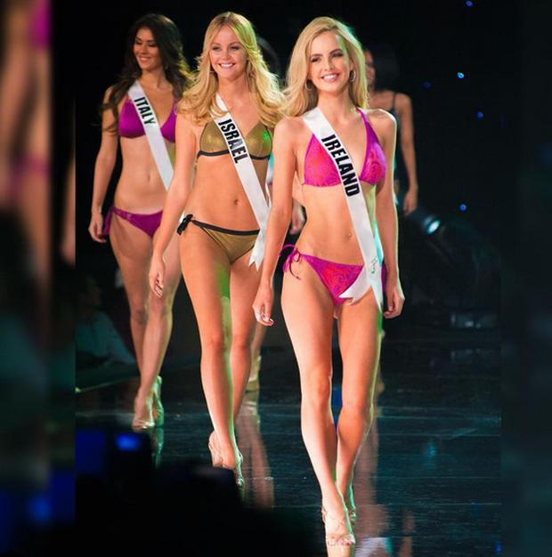 Miss Ireland Joanna Cooper in the swimsuit round at Miss Universe