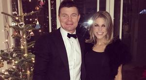 Brian O'Driscoll and Amy Huberman during Christmas 2015