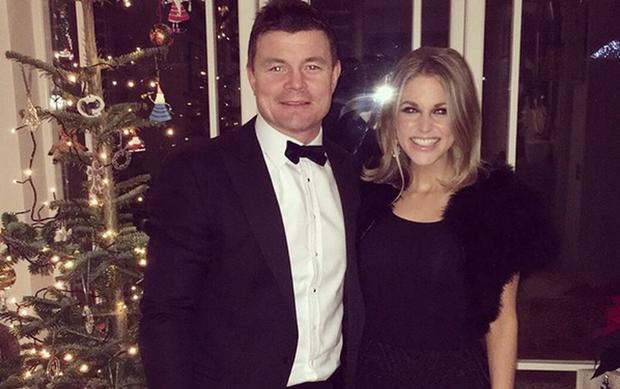Brian O'Driscoll and Amy Huberman at Christmas