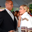 Jay-Z and Rita Ora attend the Roc Nation Pre-GRAMMY Brunch presented by MAC Viva Glam at Private Residence on January 25, 2014 in Beverly Hills, California. (Photo by Kevin Mazur/Getty Images)