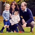 Kate Middleton, Prince William, Prince George and Princess Charlotte in their 2015 Christmas card
