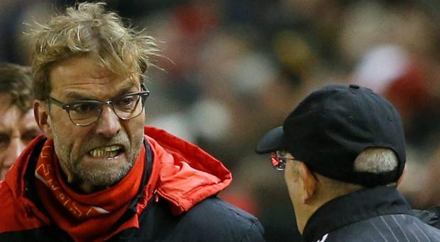Liverpool manager Jurgen Klopp and West Brom manager Tony Pulis clashed last week