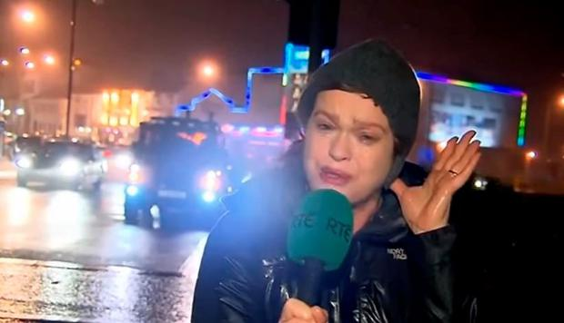 Teresa Mannnion reports on storm Desmond